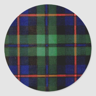 CAMPBELL OF CAWDOR FAMILY TARTAN ROUND STICKERS