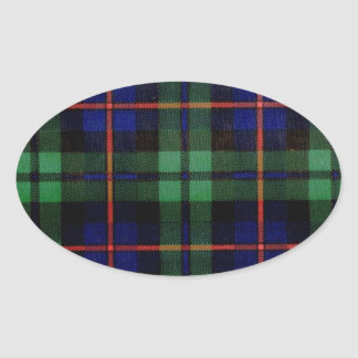CAMPBELL OF CAWDOR FAMILY TARTAN OVAL STICKERS