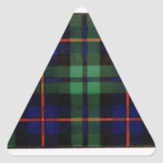 CAMPBELL OF CAWDOR FAMILY TARTAN TRIANGLE STICKERS