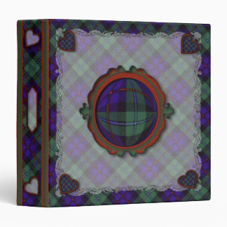Campbell of Cawdor Scottish clan tartan - Plaid 3 Ring Binder