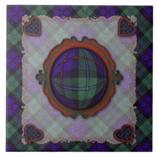 Campbell of Cawdor Scottish clan tartan - Plaid Ceramic Tile
