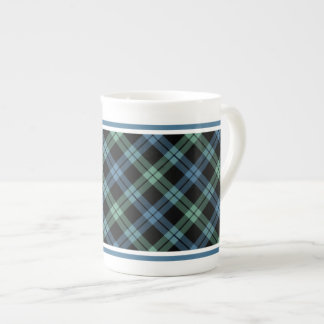 Campbell of Loch Awe Family Tartan Blue Plai Tea Cup