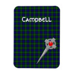 Campbell or Black Watch Tartan & Celtic Kilt Pin Magnet