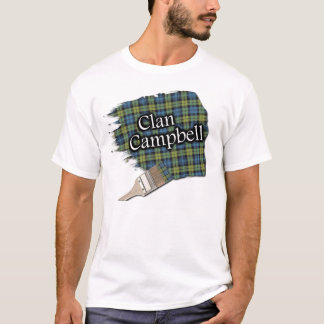 Campbell Scottish Tartan Paint Brush Shirt