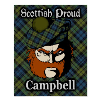 Campbell Scottish Tartan Poster