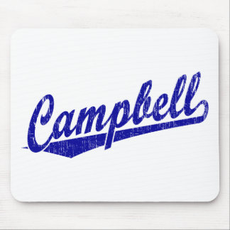 Campbell script logo in blue mouse pad