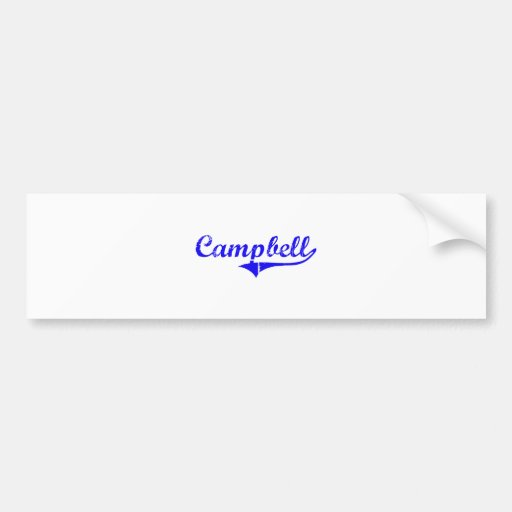 Campbell Surname Classic Style Bumper Stickers