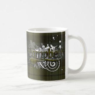 Campbell Tartan Grunge Coffee Mug