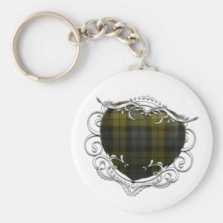 Campbell Tartan Heart Keychain