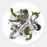 Campbell Tartan Lion Classic Round Sticker