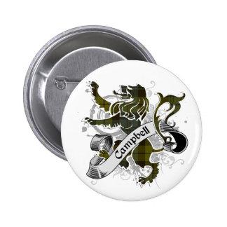 Campbell Tartan Lion Pins