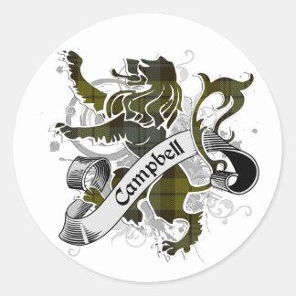 Campbell Tartan Lion Round Sticker