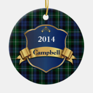 Campbell Tartan Plaid Custom ornament