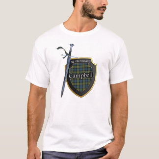 Campbell Tartan Scottish Shield & Sword T-Shirt