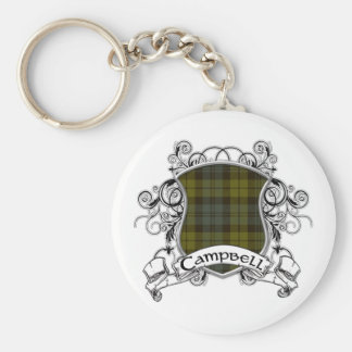Campbell Tartan Shield Keychain