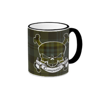 Campbell Tartan Skull Mug