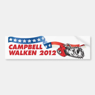 Campbell/Walken 2012 Pegatina De Parachoque