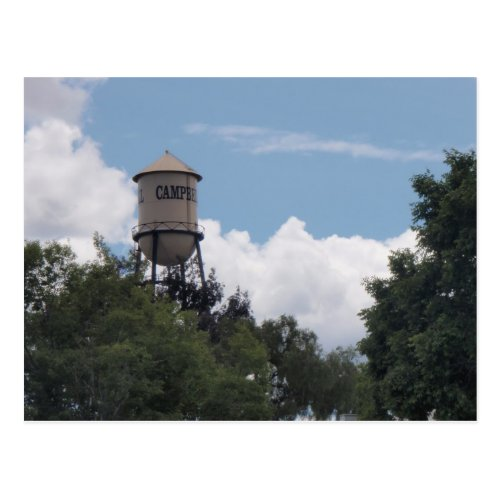 Campbell Water Tower California Postcard