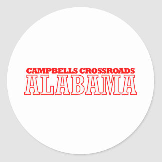 Campbells Crossroads, Alabama City Design Classic Round Sticker