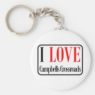 Campbells Crossroads, Alabama City Design Keychain