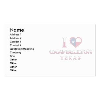 Campbellton Texas Business Card Templates
