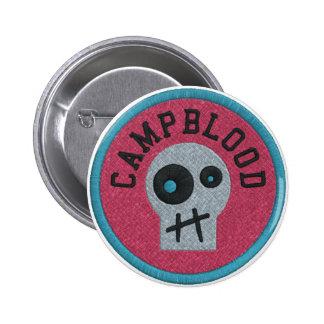 CampBlood Skully Merit Badge Button