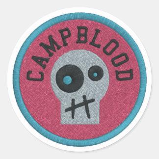CampBlood Skully Merit Badge stickers