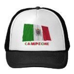 Campeche que agita la bandera oficiosa gorras