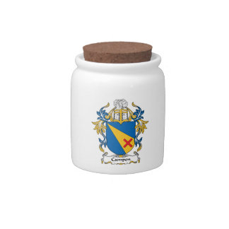 Campen Family Crest Candy Jar