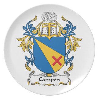 Campen Family Crest Dinner Plate