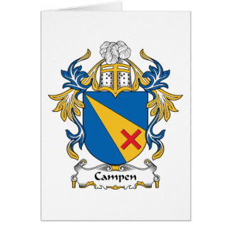 Campen Family Crest Greeting Cards