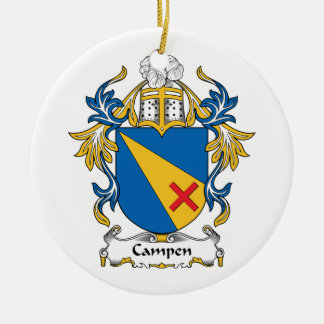 Campen Family Crest Christmas Tree Ornaments