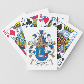 Campen Family Crest Poker Cards