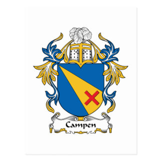 Campen Family Crest Post Card