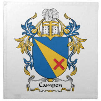 Campen Family Crest Printed Napkin