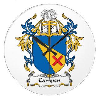 Campen Family Crest Wallclocks