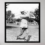 Campeón 1914 del golf del rayo de Ted Posters