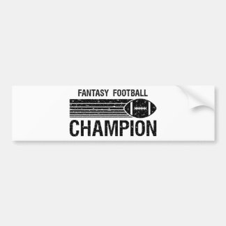 Campeón 1 del fútbol de la fantasía pegatina para auto