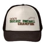 Campeón 2008 del fútbol de la fantasía gorras de camionero