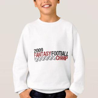 campeón 2009 del fútbol de la fantasía sudadera