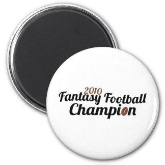 campeón 2010 del fútbol de la fantasía imán redondo 5 cm