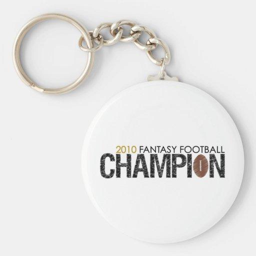 campeón 2010 del fútbol de la fantasía llavero redondo tipo pin