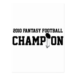 Campeón 2010 del fútbol de la fantasía postal