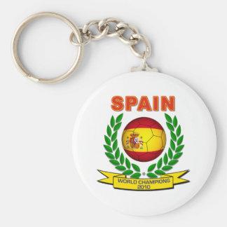 Campeón 2010 del mundo de España Llavero Redondo Tipo Pin