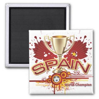 Campeón 2010 del mundo de España para siempre Imán Cuadrado