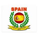Campeón 2010 del mundo de España Tarjeta Postal
