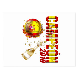 Campeon 2010 Spain Celebration Gifts Postcard