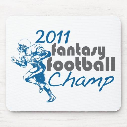 Campeón 2011 del fútbol de la fantasía tapete de ratones