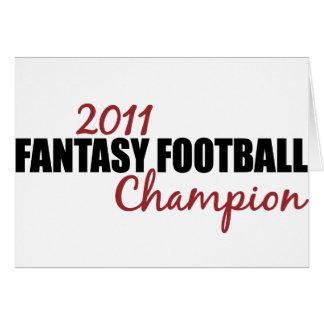 Campeón 2011 del fútbol de la fantasía tarjetón