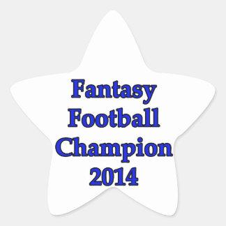 Campeón 2014 del fútbol de la fantasía pegatina en forma de estrella